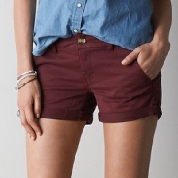 American Eagle Outfitters Pants - AEO Twill X Midi Super Stretch Shorts